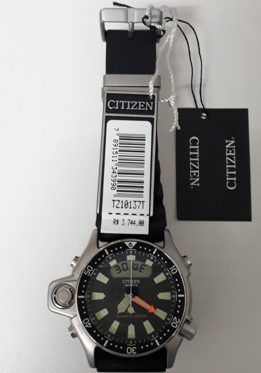 52b9222a667 relógio citizen aqualand original jp2000 08e   tz10137t. Carregando zoom.