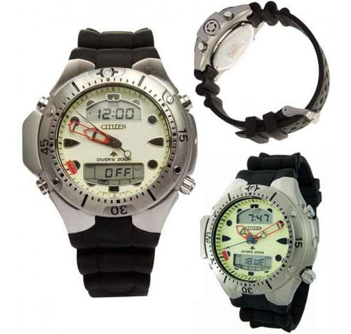 relógio citizen aqualand promaster jp1060-01w / tz10128m