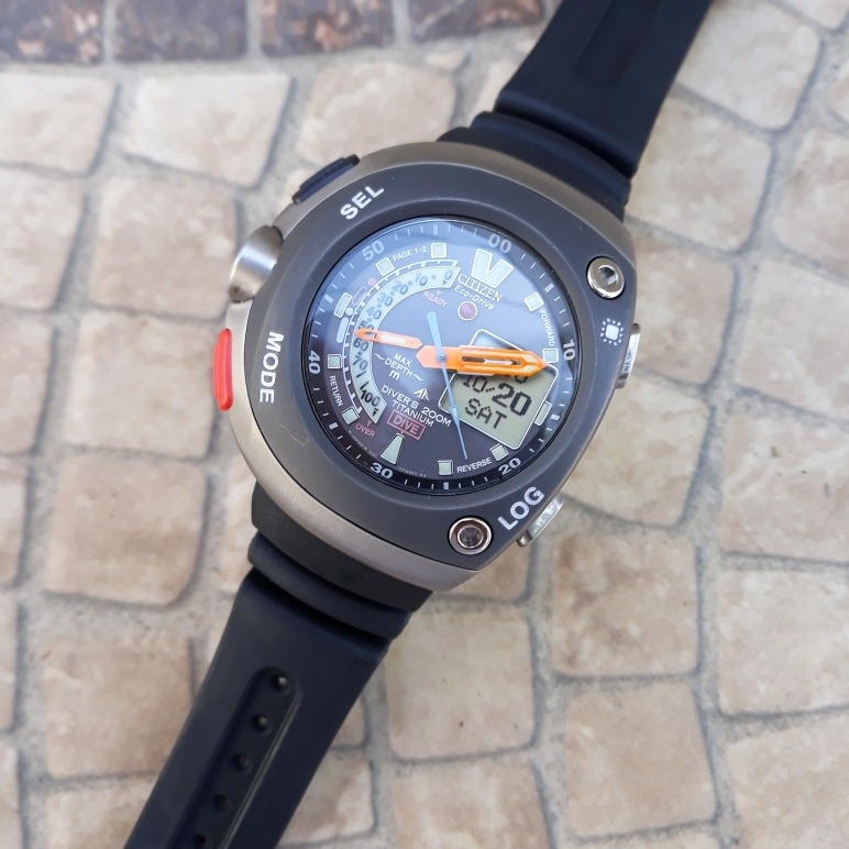 b6fcf630ccc Relógio Citizen Aqualand Titaniun Meia Lua Impecável New - R  1.403 ...