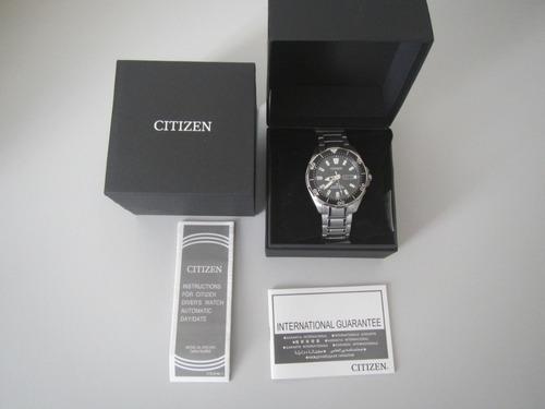 relógio citizen aqualand titânio automático ny0070-83e japan