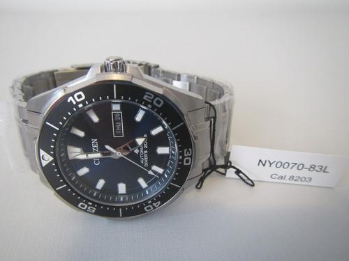 relógio citizen aqualand titânio automático ny0070-83l japan