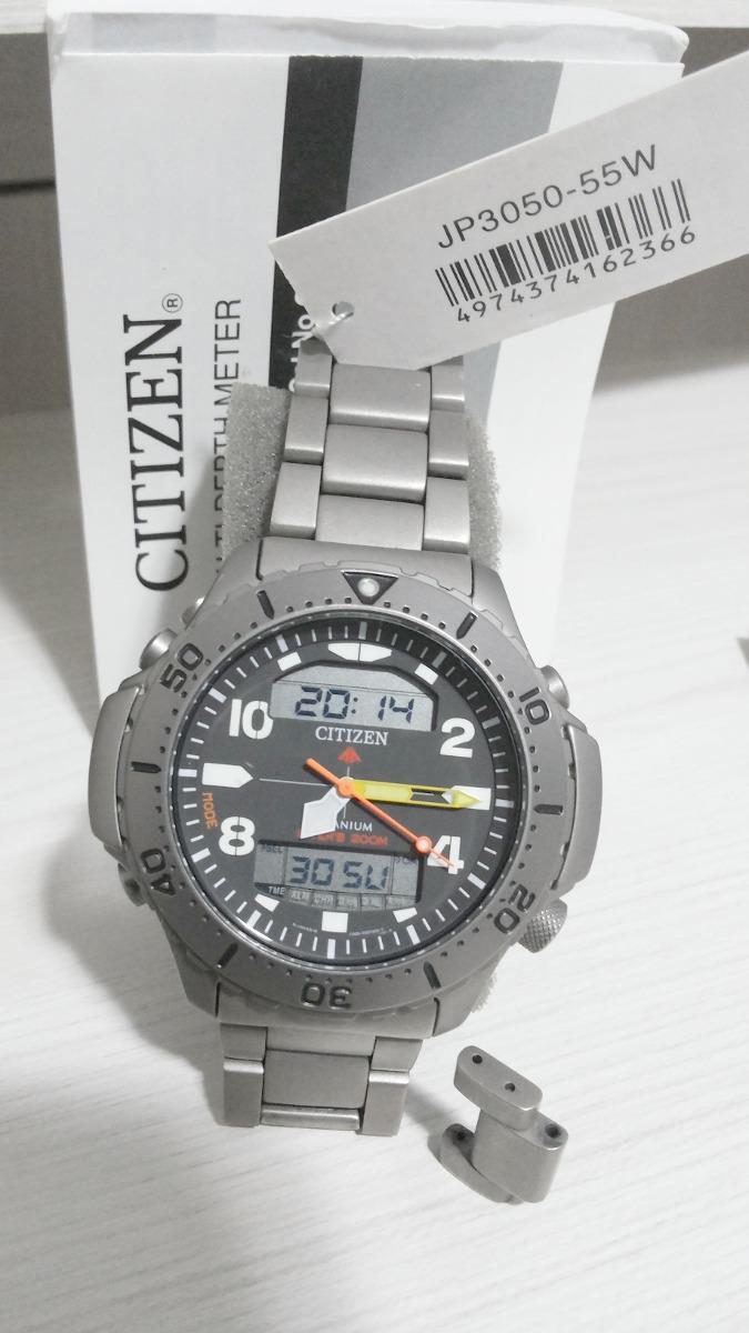2ea12976dbd relógio citizen aquamount titanium jp3050 55w altidepthmeter. Carregando  zoom.