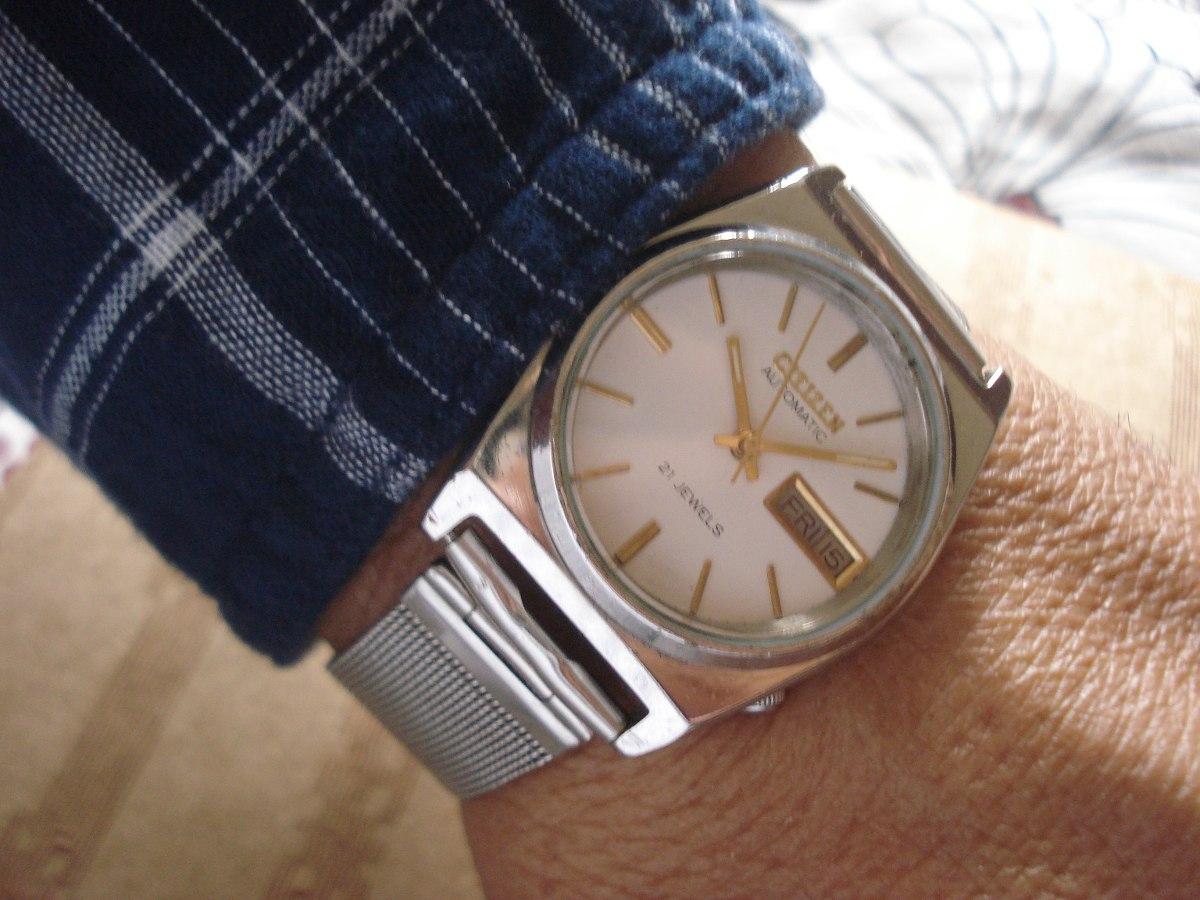 8926100800a relógio citizen automático antigo coleção 21 joias japan. Carregando zoom.