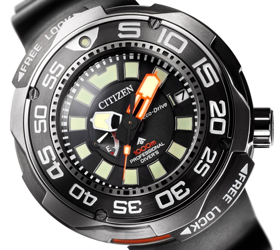 cb53d3624ae relógio citizen autozilla ecozilla titanium 1000m bn7020-09e. Carregando  zoom.