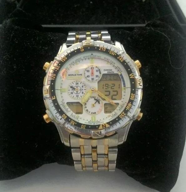 251be7c5ef5 Relógio Citizen C320 Anadige Com Alarme E Cronometro - R  799