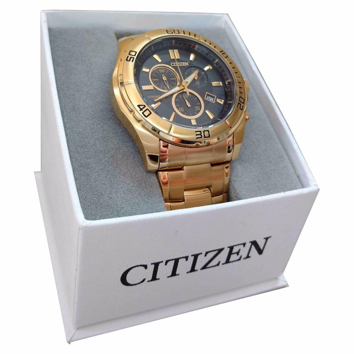9e06d27a6dc Relógio Citizen Cronograph An7102-54e Aço Dourado Original - R  649 ...