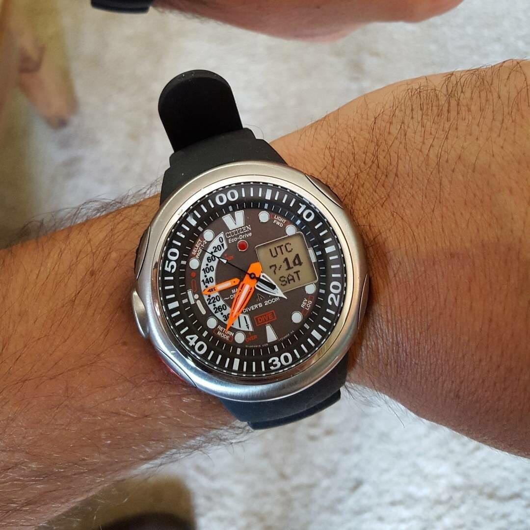 e79dc8bb9f2 relógio citizen eco drive aqualand anal digital lua cheia. Carregando zoom.