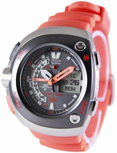 relógio citizen eco-drive aqualand meia lua jv0020-21f