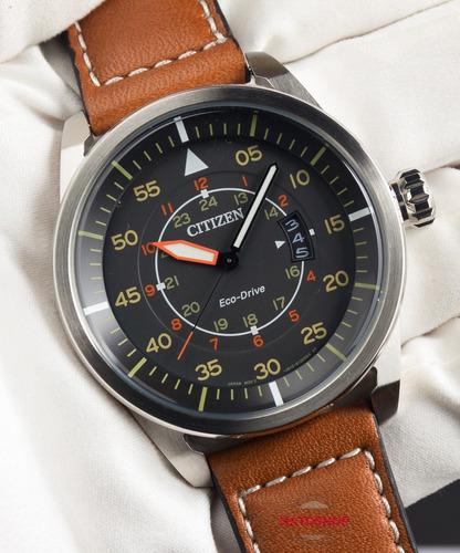 relógio citizen eco-drive aviator piloto aw1360-12h