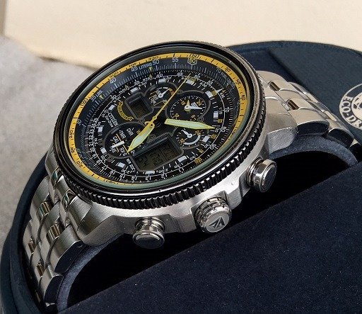 c063be4050b Relógio Citizen Eco Drive Blue Angels Navihawk Jy8031-56l - R  2.090 ...