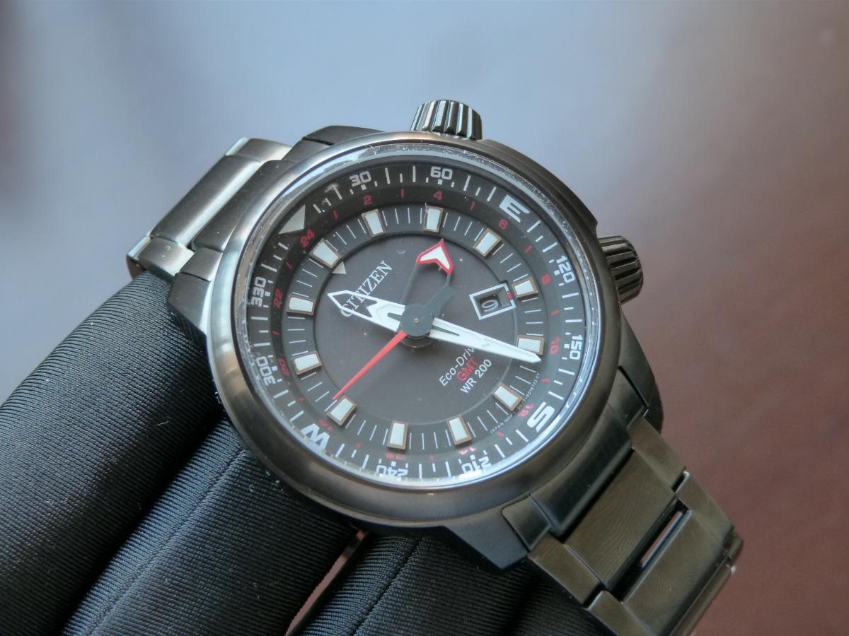 2599cdf92d6 relógio citizen eco-drive gmt bj7085-50e tz30759p grande xl. Carregando  zoom.