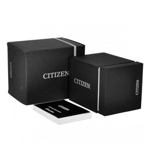 relógio citizen eco drive masculino fundo preto e calendário