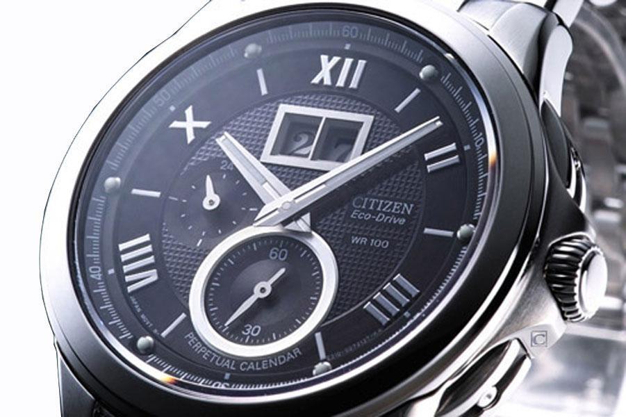 d0502db96f630 Relógio Citizen Eco Drive Perpetual Bt0001-63l  safira - R  2.495,90 em  Mercado Livre