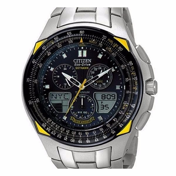 7f44ff46373 Relógio Citizen Eco Drive Skyhawk Blue Angels Jr3090-58m - R  3.000 ...