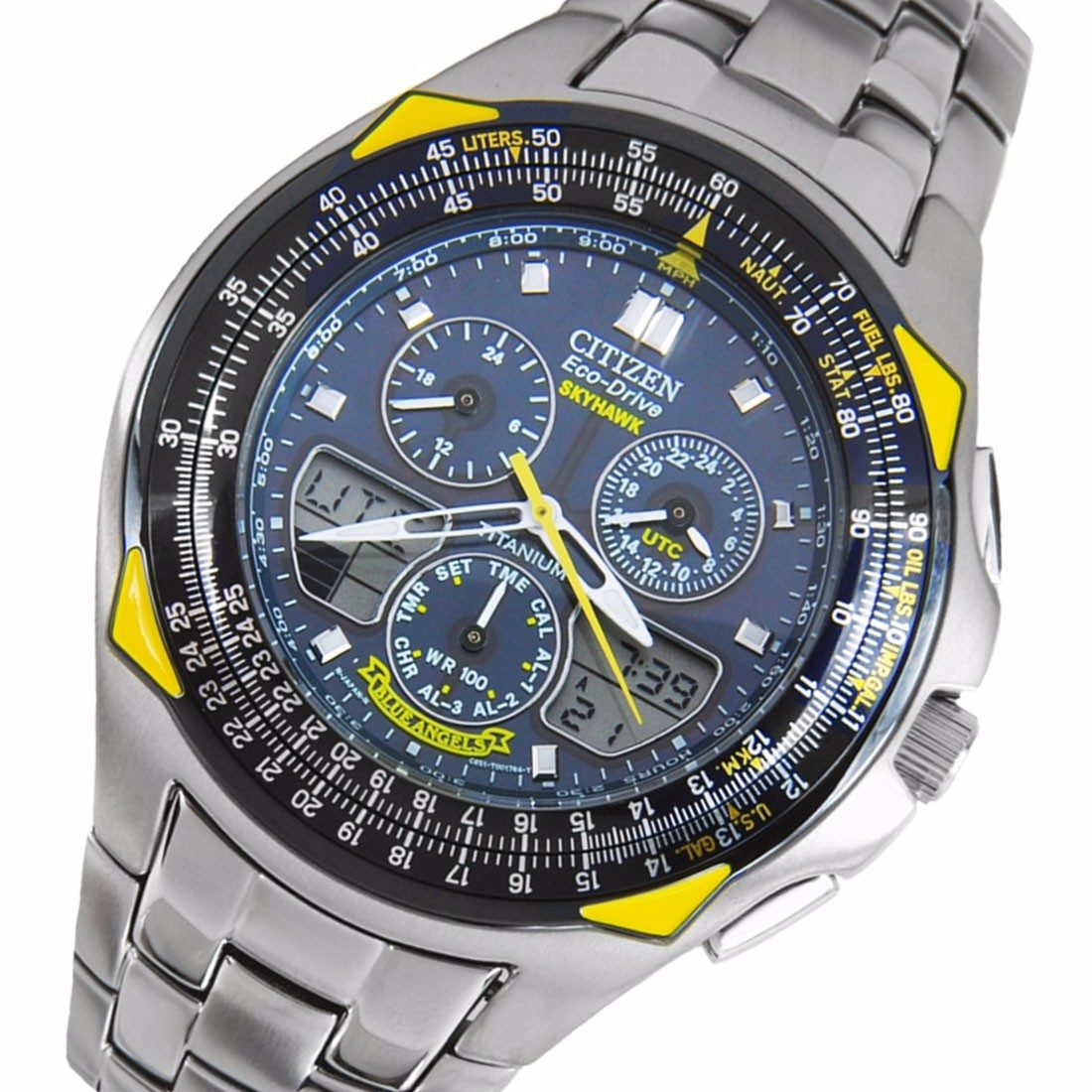 02d382cd6f2 relógio citizen eco drive skyhawk blue angels jr3090-58m. Carregando zoom.