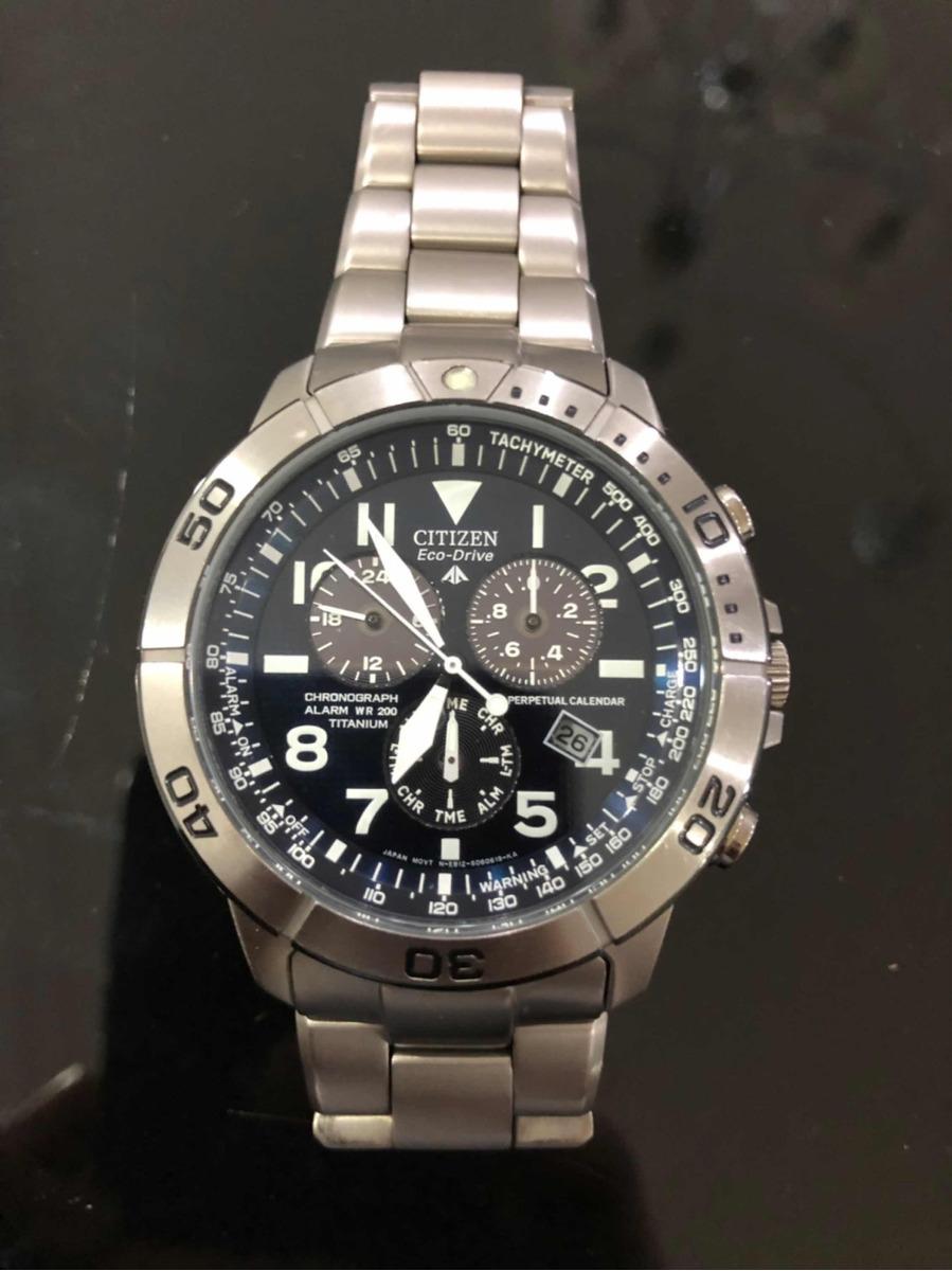 0a86789a3c8 relógio citizen eco-drive titanium. Carregando zoom.