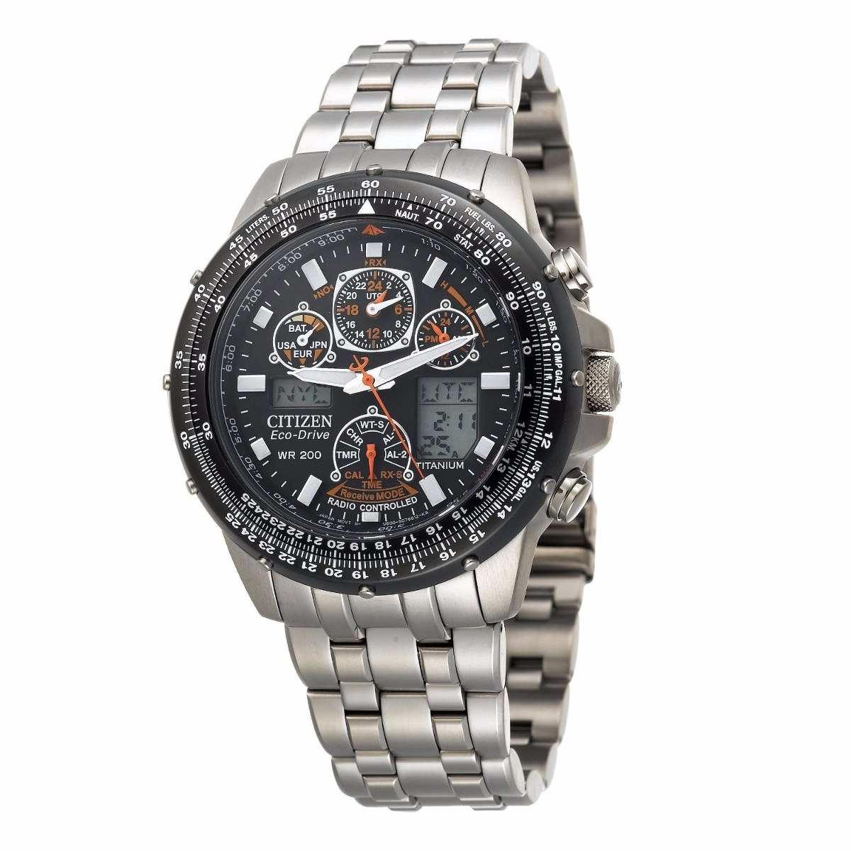 17a58800899 relógio citizen eco-drive titanium skyhawk jy0010-50e. Carregando zoom.