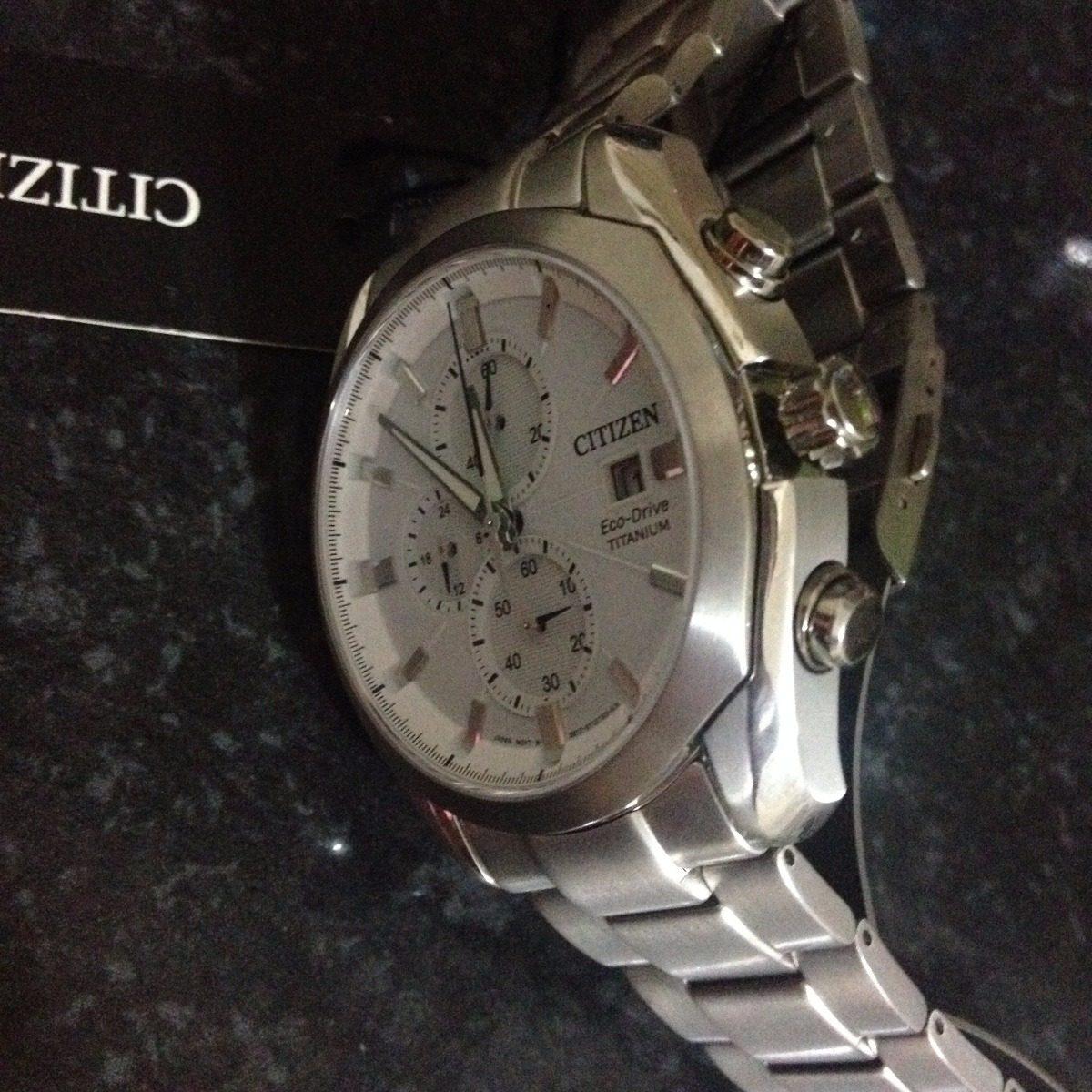 1e5fd7924cc relógio citizen eco drive wr 10 bar titanium. Carregando zoom.