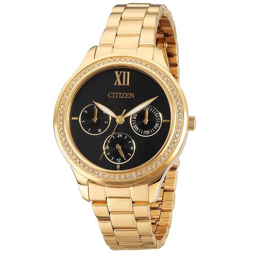 relógio citizen feminino dourado multifunção tz28342u nota