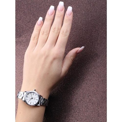 relógio citizen feminino ref: tz28495q social prateado