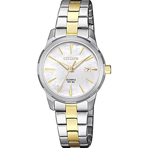 relógio citizen feminino ref: tz28495s social bicolor
