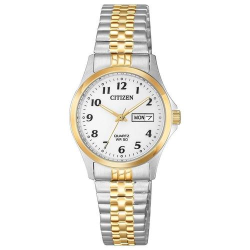relógio citizen feminino ref: tz28520s social bicolor