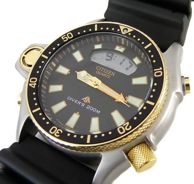 e09123cf3fd Relógio Citizen Jp2004-07e Aqualand Jp2004 Serie Ouro - R  2.289