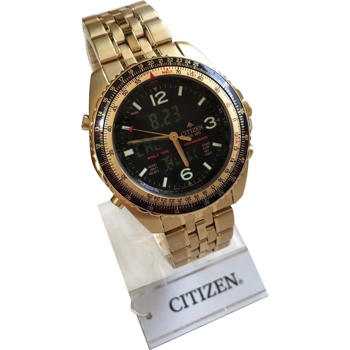 6346555c2d9 relógio citizen masculino dourado wingman promaster original. Carregando  zoom.