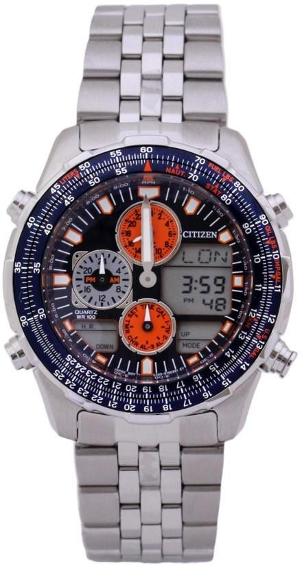 866de75f724 Relógio Citizen Masculino Navihawk Promaster Ar Jn0121-82l   - R  2.102