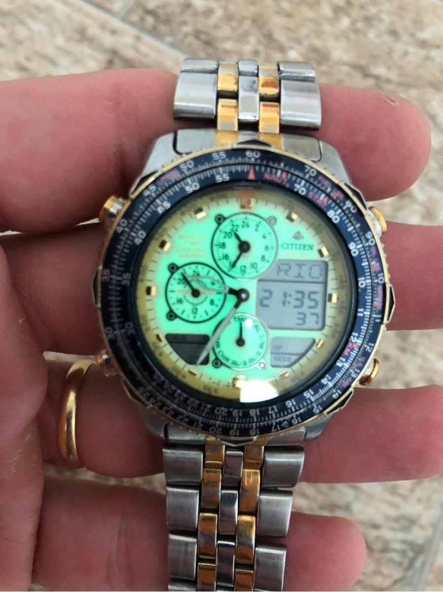 239ca1e2800 relógio citizen navihawk c300 natulite série ouro. Carregando zoom.