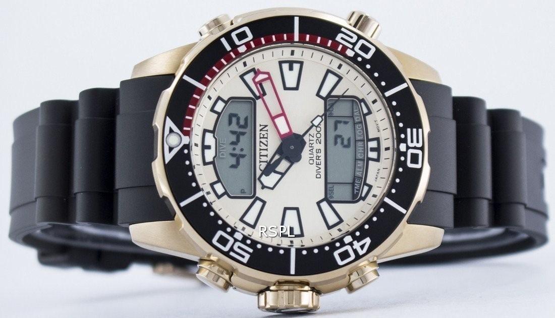 3c0d65f94b3 Relógio Citizen Promaster Aqualand Jp1093-11p Duplex - R  1.450