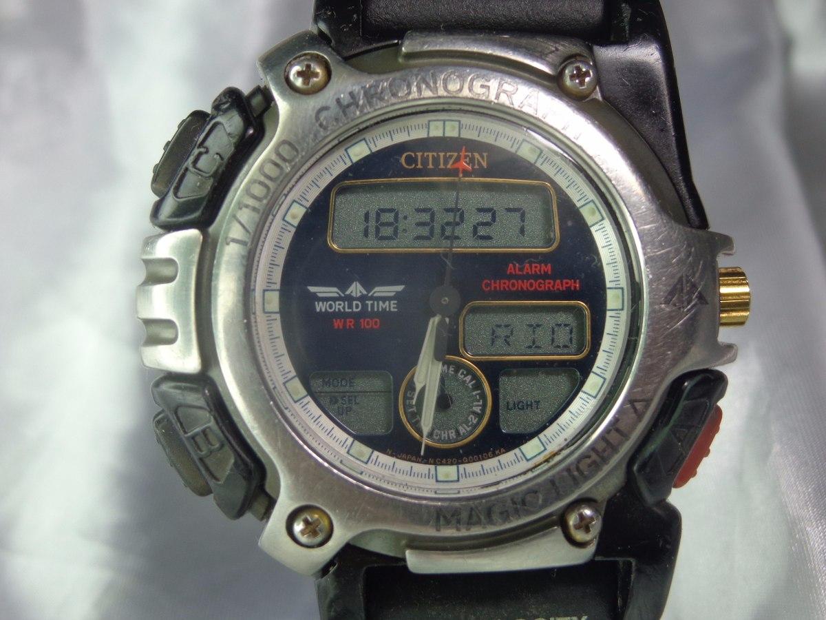 3d087604817 relógio citizen promaster world time mód c 420 relogiodovovô. Carregando  zoom.