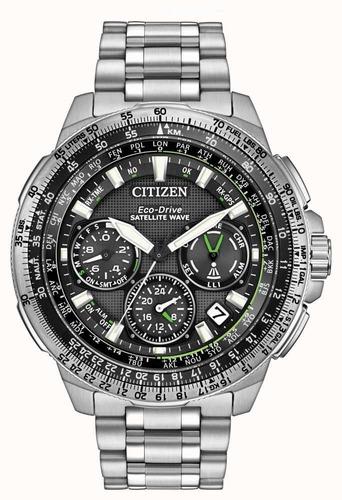 relógio citizen satellite wave gps navihawk semi novo lindo