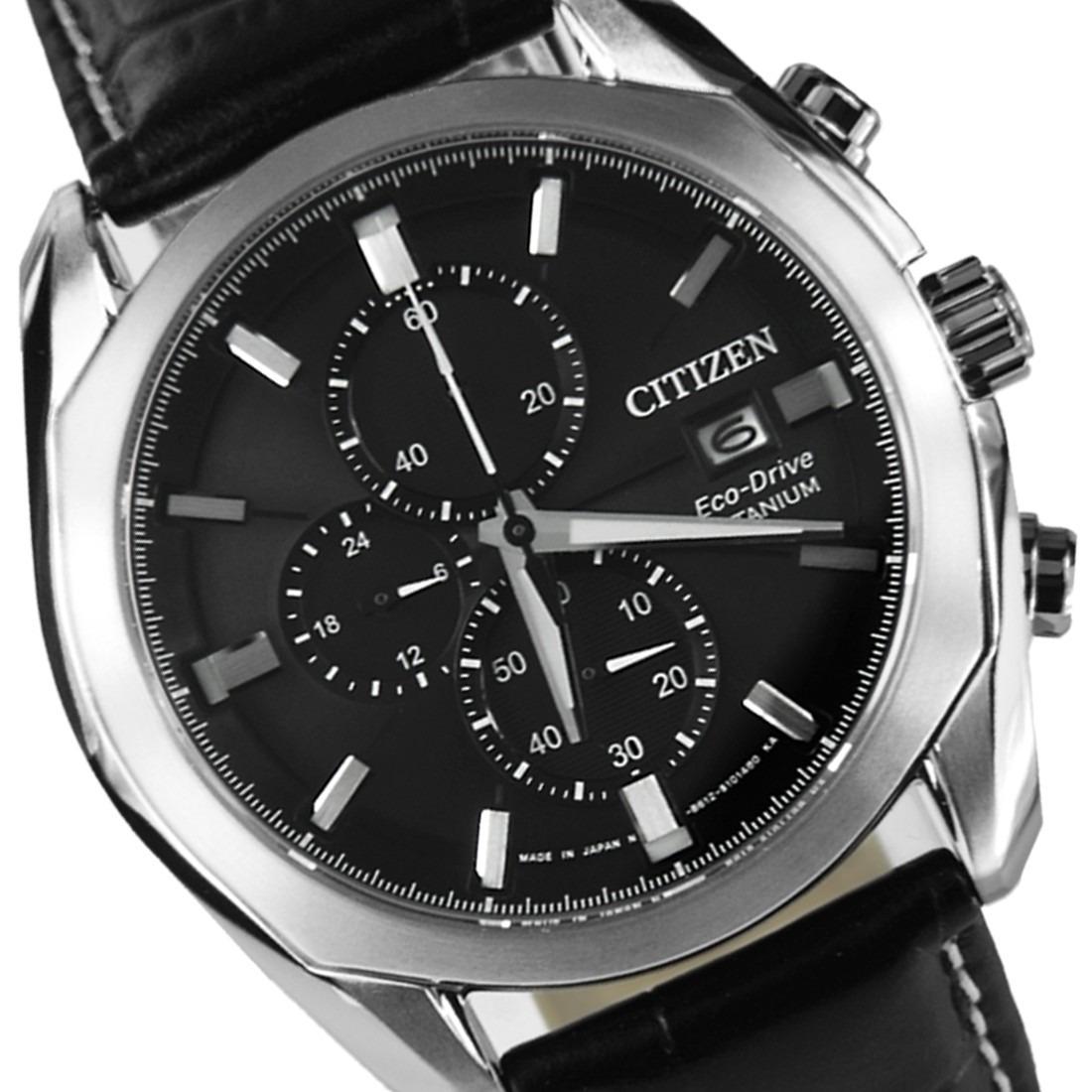 6472d6b7142 relógio citizen titanium eco drive chronograph novo. Carregando zoom.