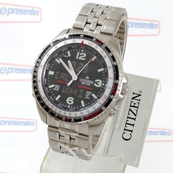 34be1e62be1 Relógio Citizen Wingman Cronógrafo Wr100 Jq8001-57e Tz10075t - R ...