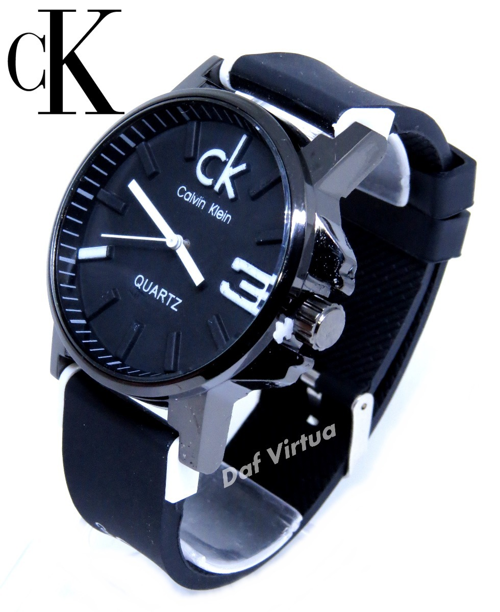 cef6888f51024 Relógio masculino feminino preto na caixa lindo original carregando zoom  jpg 980x1200 Relogio calvin klein masculino