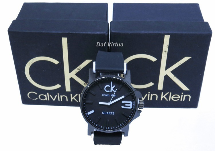 4f7ca84fea9 Relógio Ck Masculino Feminino Preto Na Caixa Lindo Original - R  49 ...