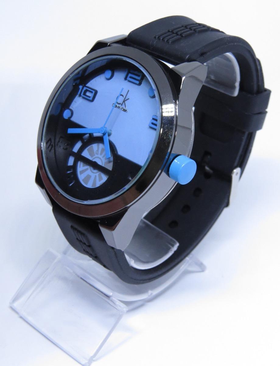 7a62595e770 Relógio Ck Na Caixa Barato Preto Azul Masculino Lançamento - R  49 ...