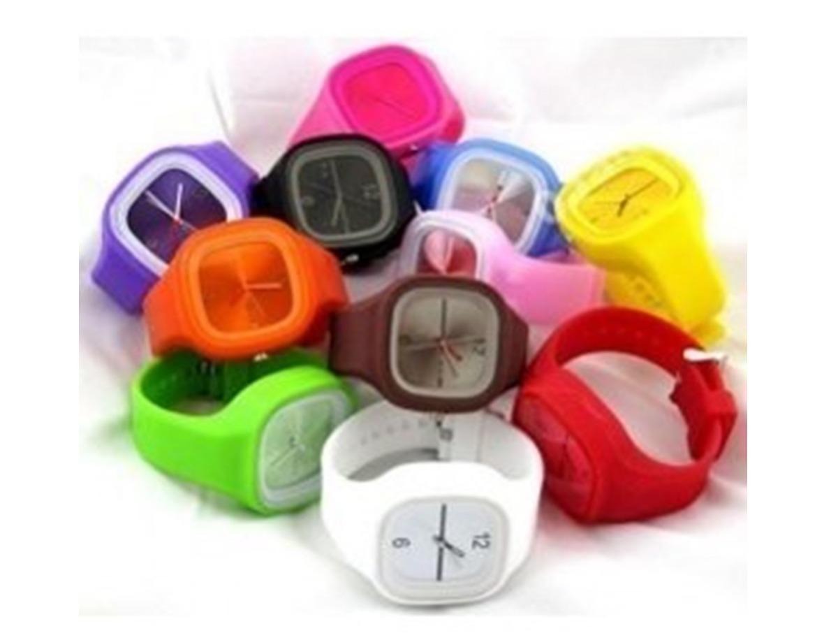1ce8918f80d relógio colorido jelly ss.com colorido pulseira silicone. Carregando zoom.