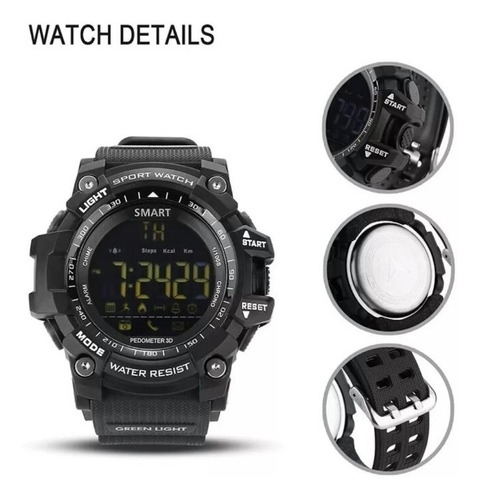 relógio  com caixa g-shock militar multifuncões lokmat ex 16