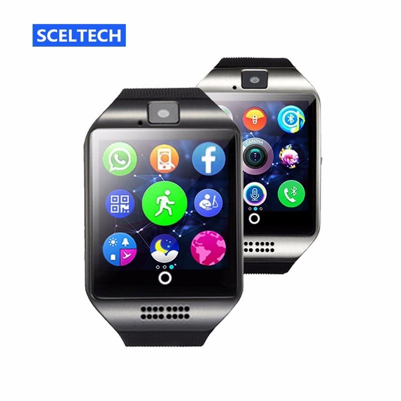 f94b97fe334 Relógio Com Câmera Bluetooth Smart Watch Q18 Independente - R  110 ...