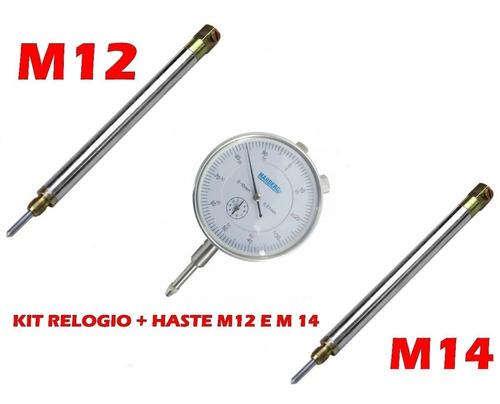 relogio comparador + suporte p/verificação de pms m12 e m14