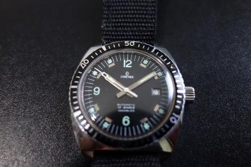 relógio concord diver - vintage - super raro - top