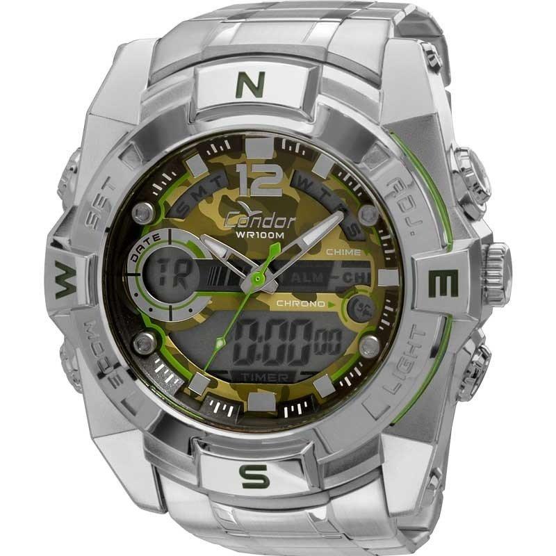91679498ac0 Relógio Condor Coleção Militar Coad1119a 3v - Prata Seal - R  229