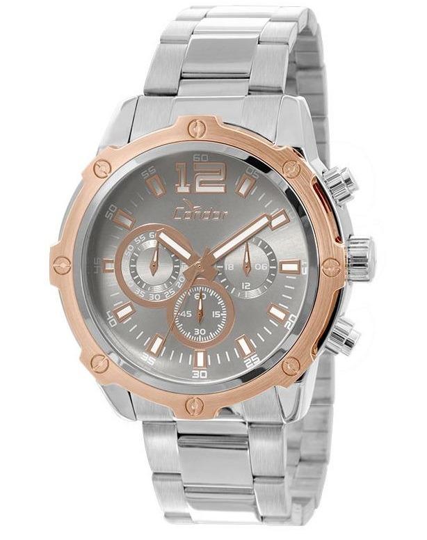 cac3252843e Relógio Condor Cronógrafo Covd54ad 3c Prata rose - R  339
