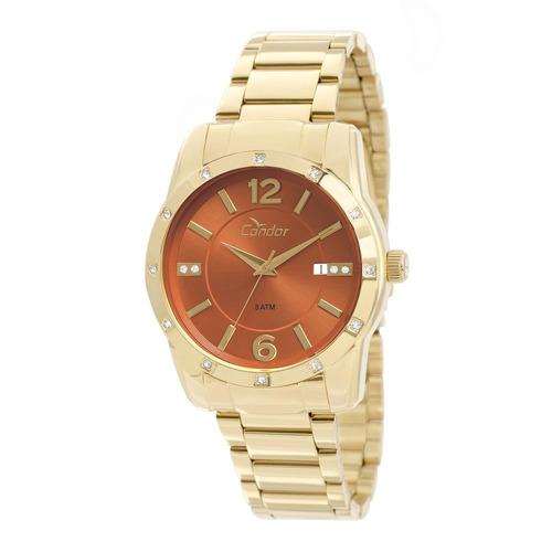 Kit Relógio Condor Feminino Pulseira E Brincos Co2115st 4x - R  229 ... 76b2a36d82