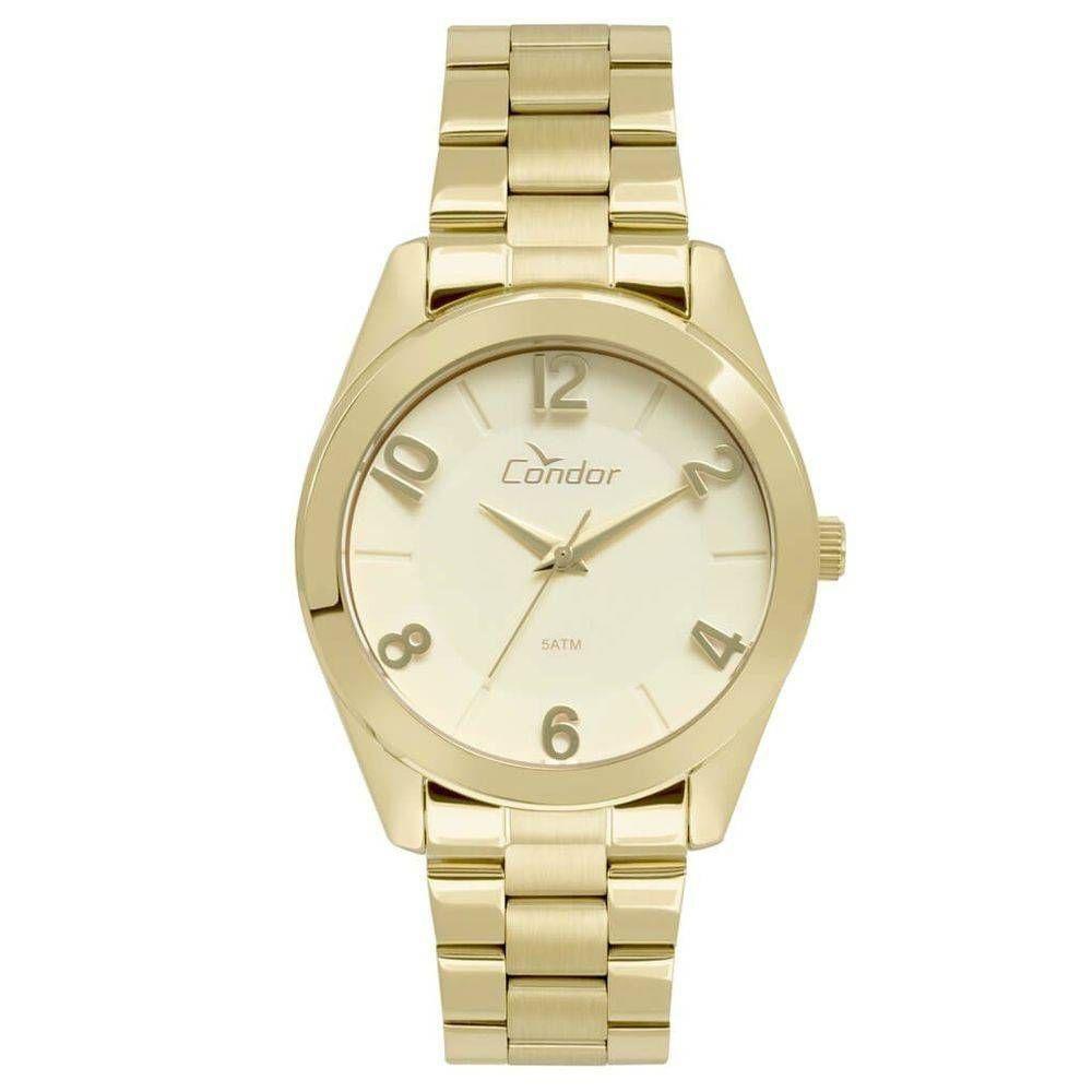 45003a3d453 Relógio Condor Feminino Dourado Co2039aj 4d - R  121
