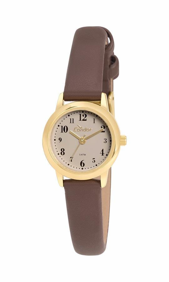 102419931ae09 Relógio Condor Feminino Co2035kty 2m Couro Dourado Oferta - R  118 ...