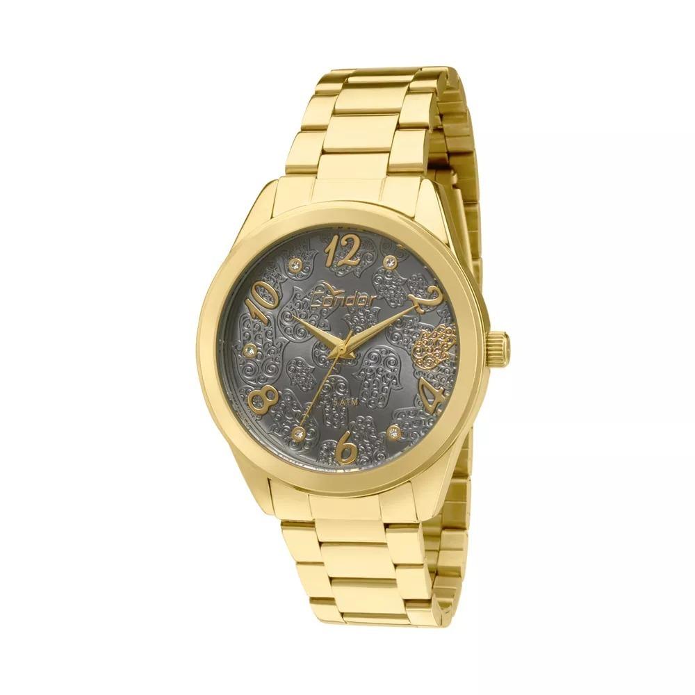 24a72b41585 Relógio Condor Dourado Feminino Fundo Preto Co2036kom 4c - R  179