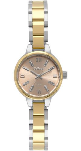 relógio condor feminino bicolor redondo - co2035kyk/5j